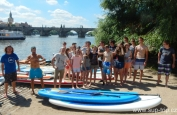 stand up paddleboarding teambuilding