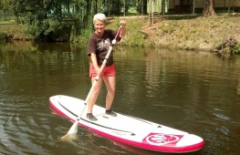 Summer on stand up paddleboard