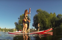 SUP video from trip through Prague centre