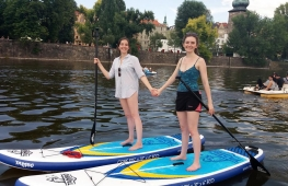 Birthday celebration in the center of Prague on paddleboard :)