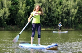 Paddleboarding course on Štěpán lake